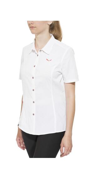 Salewa Fanes Jaquard overhemd en blouse korte mouwen Dames Dry wit